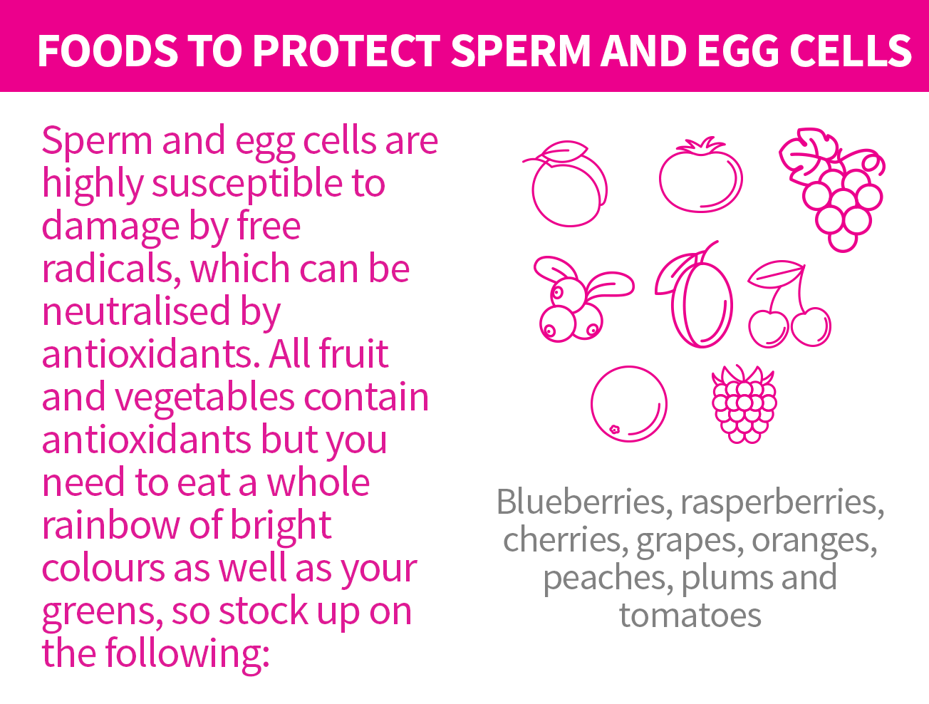 Protect sperm and egg cells